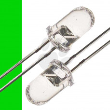 100x 5mm GREEN CLEAR LENS LEDS