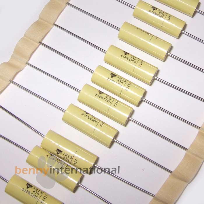 4x-1nf-1-5nF-10nF-15nF-47nF-100nF-630V-POLY-AXIAL-MKT-CAPACITOR-MKT1813-VISHAY