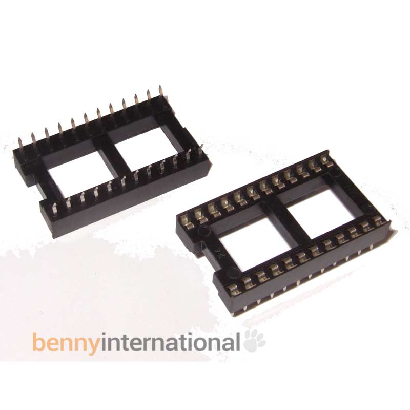 """PCB DIP Connector 2.54mm Lead Pitch 18 Pin 0.3/"""" DIL IC SOCKET"""