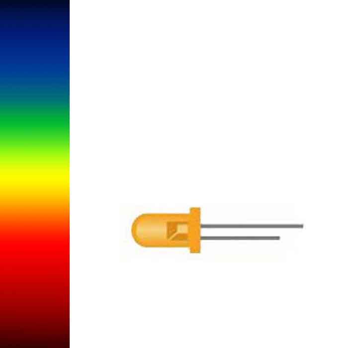 Lot of 15 Yellow LED ROHM SLR-33YY3F 3mm
