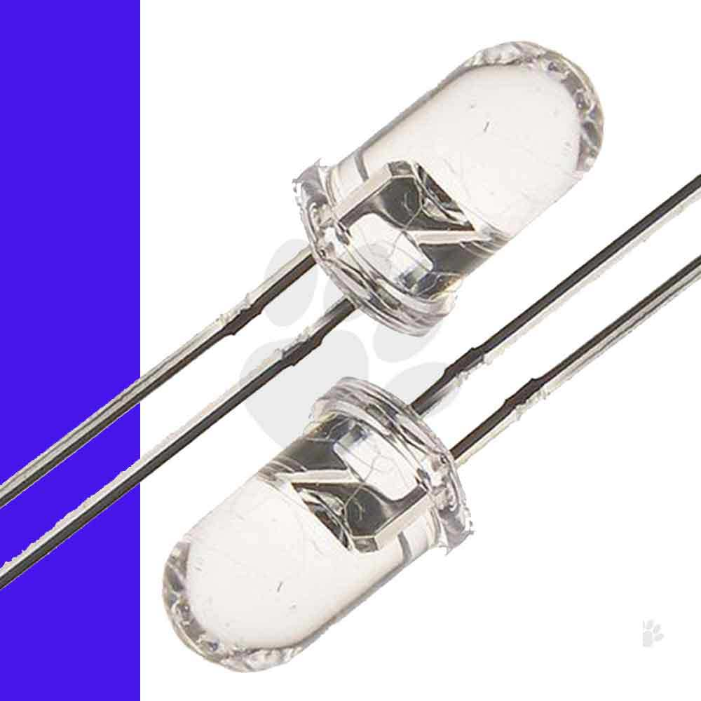 10x-5mm-UV-LED-Purple-Violet-Light-Emitting-Diode-Clear-Lens-Pack-AUS-STOCK