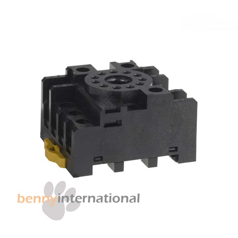 RELAY-SOCKET-BASE-11-Pin-Octal-Screw-Terminal-DIN-Panel-Mount