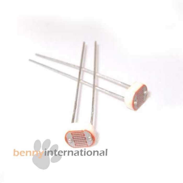 50x LDR Light Dependent Resistors P1241-05 8k-500k Photoresistor ...